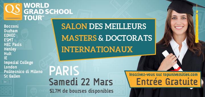 Qs world grad school tour for Salon volontariat